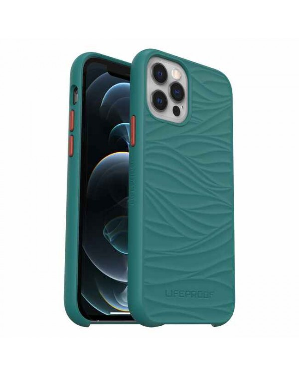LifeProof - Wake Dropproof Eco Friendly Case Down Under (Everglade/Ginger) for iPhone 12/12 Pro