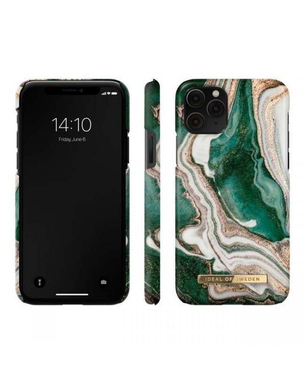 Ideal of Sweden - Fashion Case Golden Jade Marble for iPhone 11 Pro/XS/X