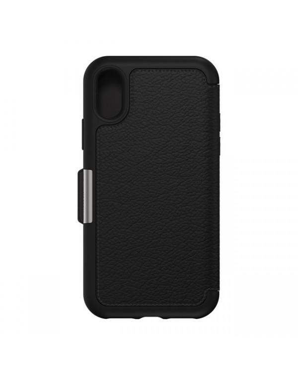 Otterbox - Strada Folio Leather Case Shadow (Black) for iPhone XR