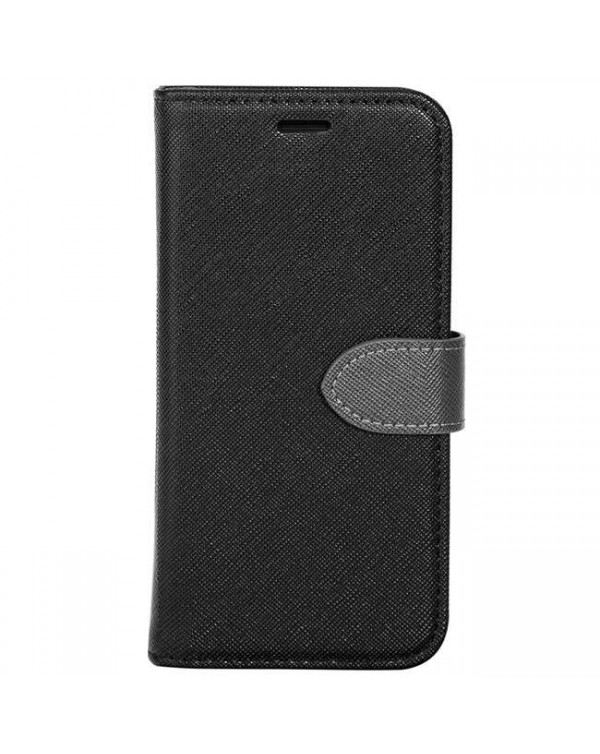 Blu Element - 2 in 1 Folio Case Black/Grey for iPhone XS Max