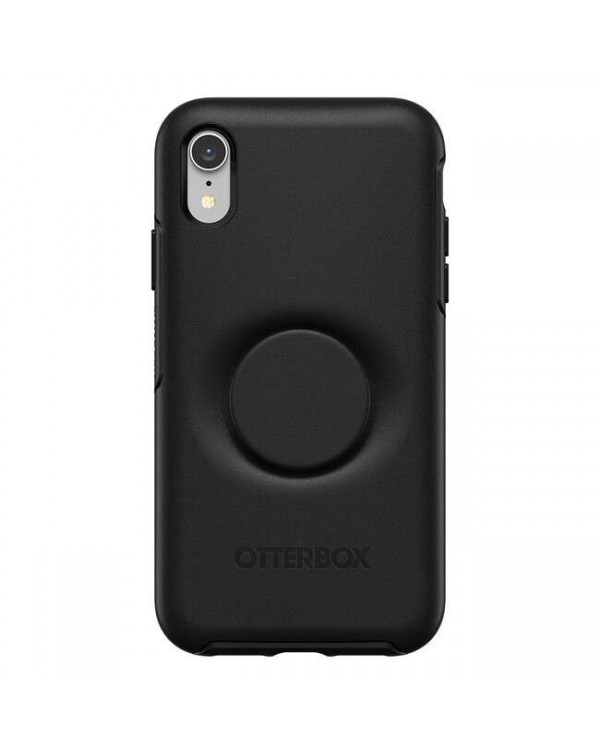 Otterbox - Otter + Pop Symmetry Case with Swappable PopTop Black for iPhone XR
