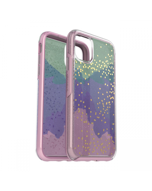 Otterbox - Symmetry Clear Protective Case Wish Way Now? (Silver Flake/Pink Matter) for iPhone 11