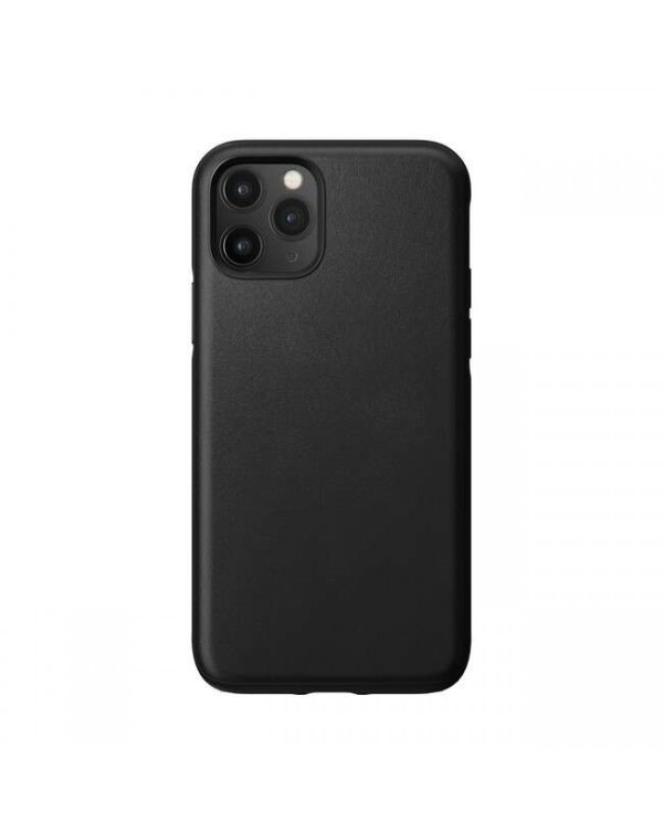 Nomad - Rugged Leather Case Black for iPhone 11 Pro