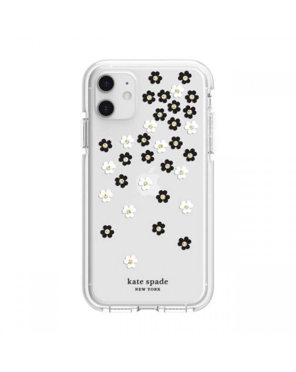 Kate Spade - Defensive Hardshell Case Scattered Flowers Clear for iPhone 11/XR