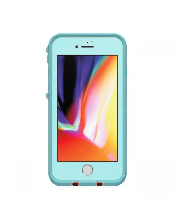 LifeProof - Fre Waterproof Case Wipeout (Coral/Blue) for iPhone SE 2020/8/7