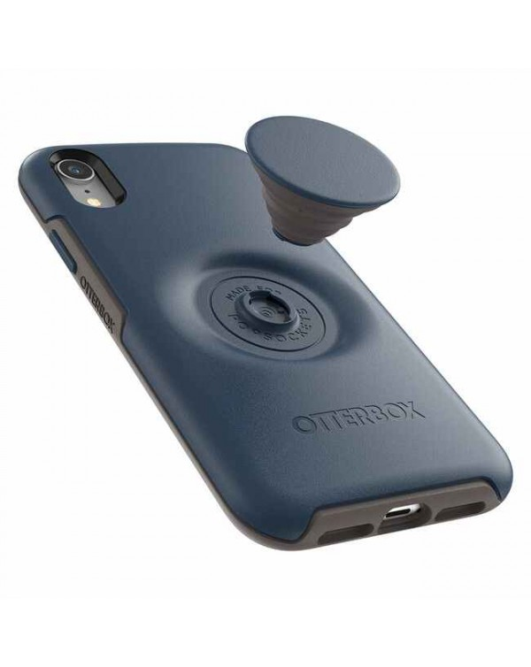 Otterbox - Otter + Pop Symmetry Case with Swappable PopTop Go To Blue for iPhone XR