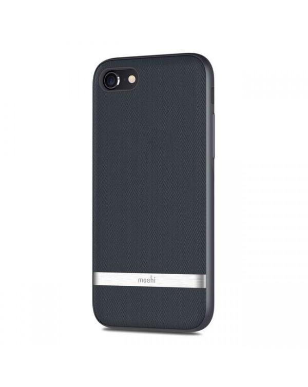 Moshi - Vesta Textile Case Navy Blue for iPhone SE 2020/8/7