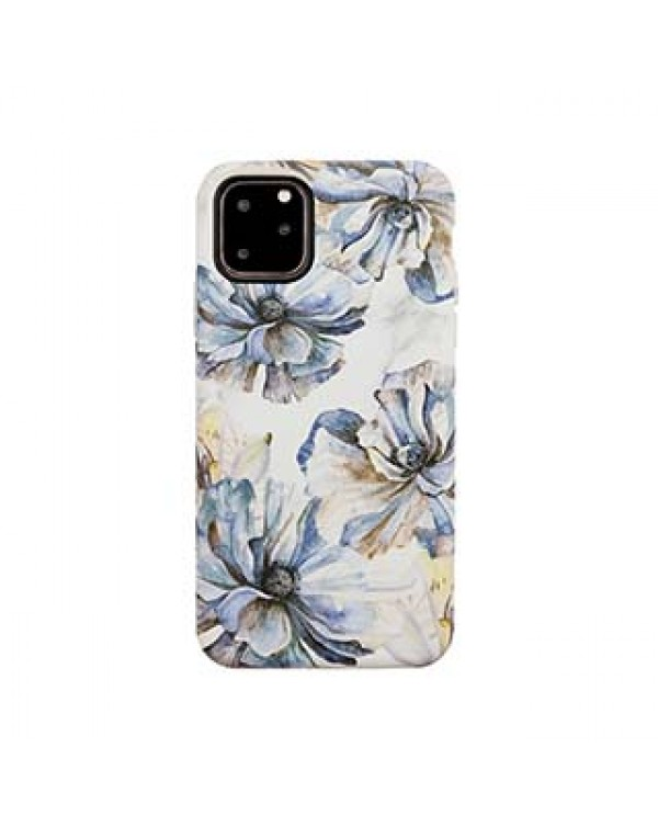 iPhone 11 Pro Uunique Blue/Gold (Bold Blossom) Nutrisiti Eco Printed Marble Back Case