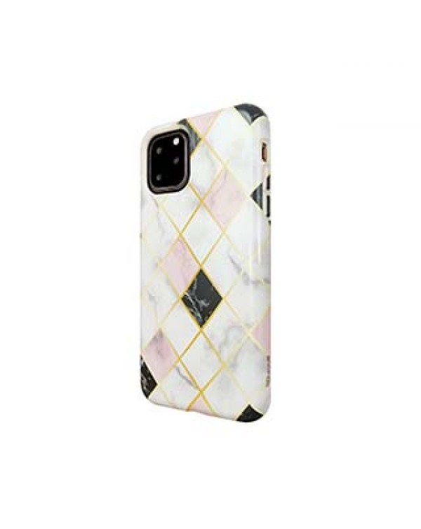 iPhone 11 Pro Uunique White/Rose Gold (Diamond Marble) Nutrisiti Eco Printed Marble Back Case