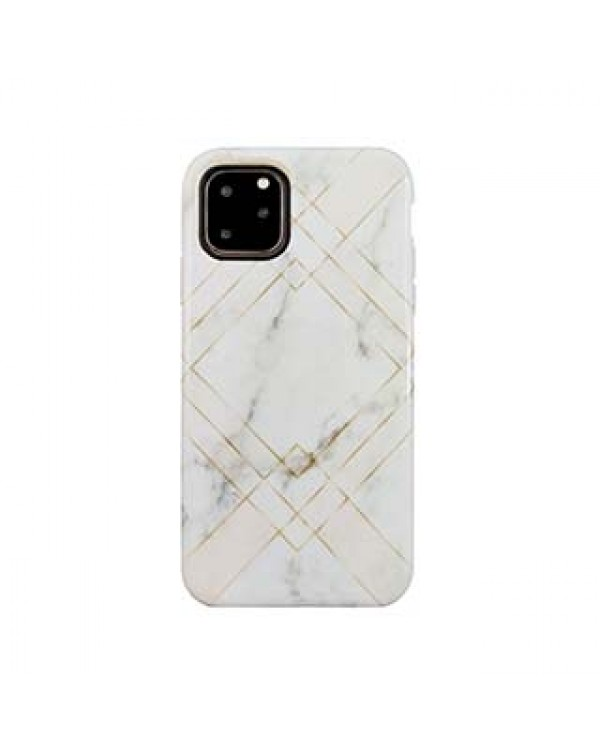 iPhone 11 Pro Uunique Pink (Geometric Marble) Nutrisiti Eco Printed Back Case