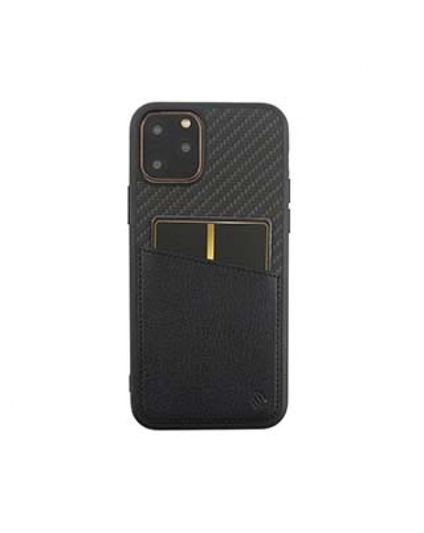 iPhone 11 Pro Uunique Black Carbon Pocket Case