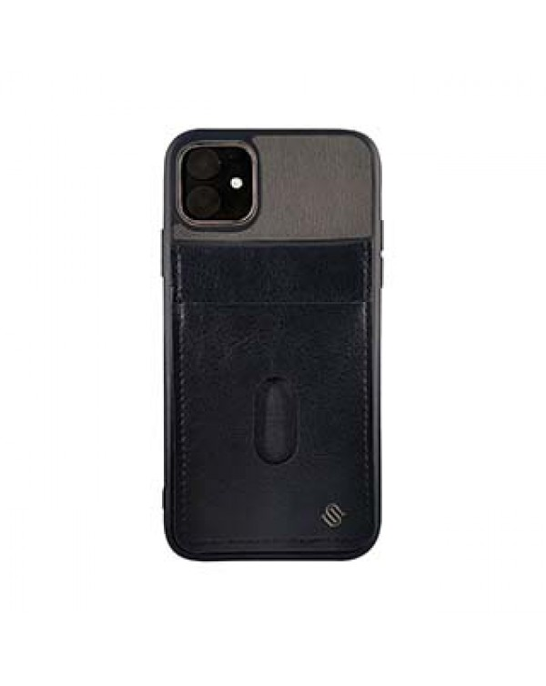 iPhone 11/XR Uunique Grey/Black Westminster Flip Pocket Case