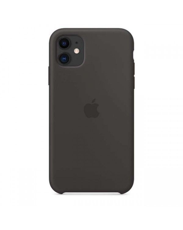 Apple - Silicone Case Black for iPhone 11