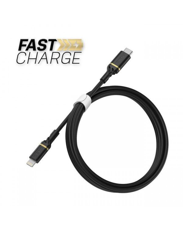 Otterbox - Charge/Sync Lighting to USB-C Fast Charge Cable 6ft Black