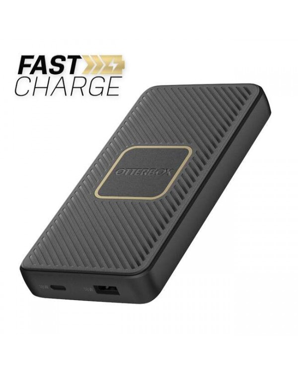 Otterbox - Fast Charge Qi Wireless Power Delivery Power Bank 10000 mAh (A&C 18W + 10W) Black
