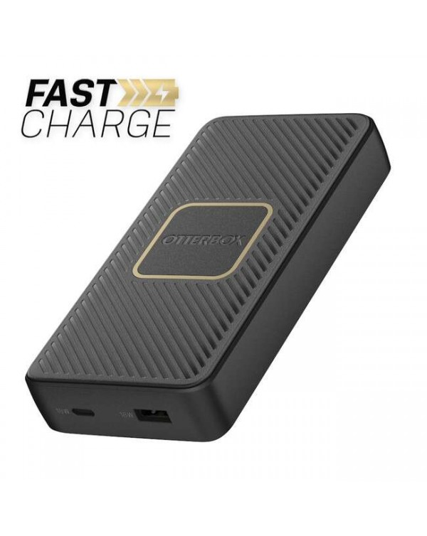 Otterbox - Fast Charge Qi Wireless Power Delivery Power Bank 15000 mAh (A&C 18W + 10W) Black