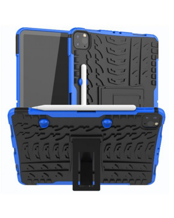 Snap-On Shell iPad Air 4th Generation case/White/Blue