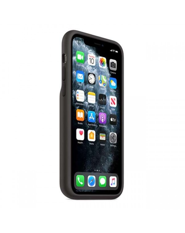 Apple - Smart Battery Case Black with Wireless Charging for iPhone 11 Pro