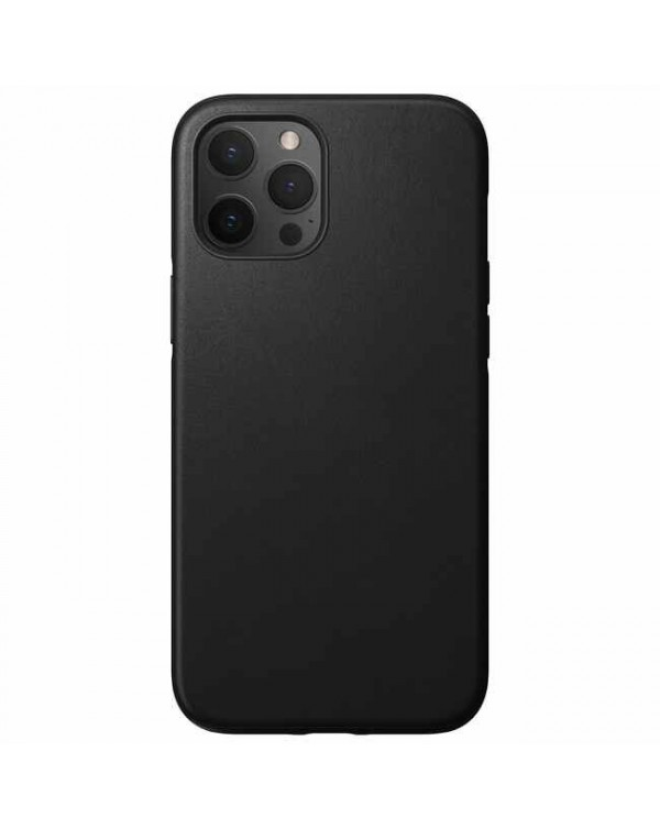 Nomad - Rugged Leather Case Black for iPhone 12 Pro Max
