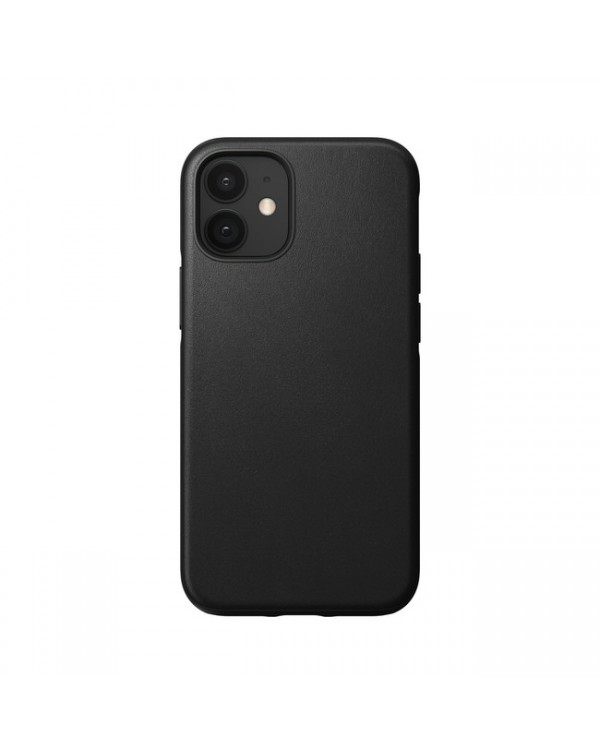 Nomad - Rugged Leather Case Black for iPhone 12 mini