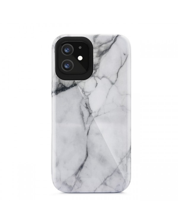 Blu Element - Mist 2X Fashion Case White Marble Glossy for iPhone 12 mini