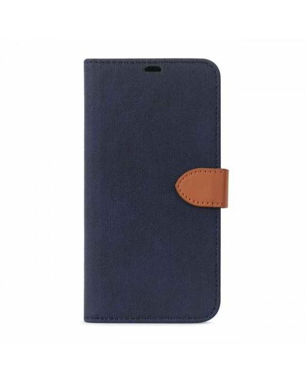 Blu Element - 2 in 1 Folio Case Navy/Tan for iPhone 12 mini