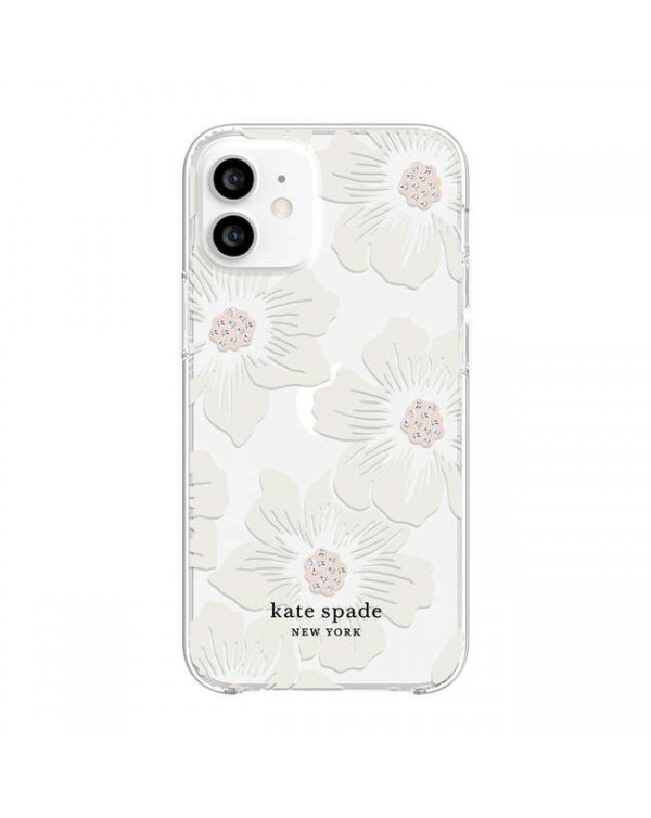 Kate Spade - Protective Hardshell Case Hollyhock Floral for iPhone 12 mini
