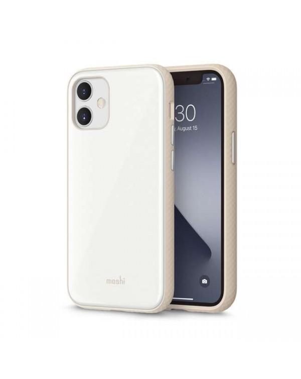 Moshi - iGlaze Slim Hardshell Case Pearl White for iPhone 12 mini