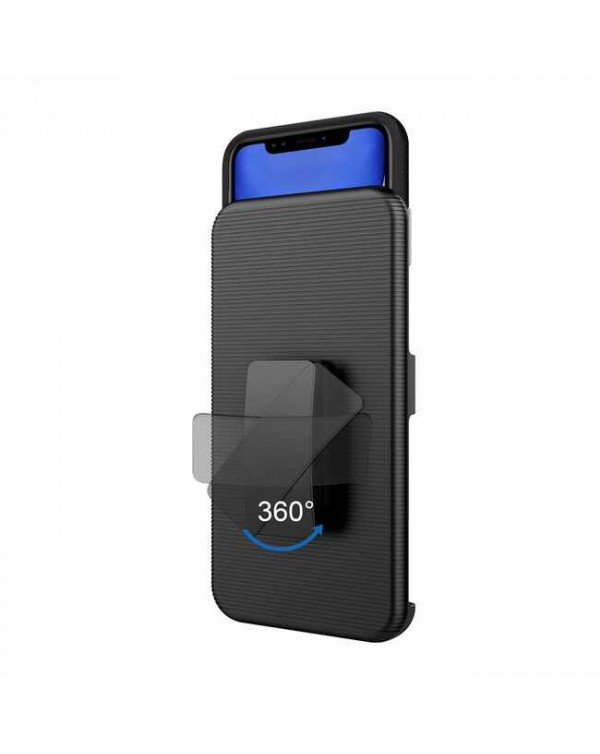 Blu Element - Armour 2X Case and Holster Combo Black for iPhone 12 mini