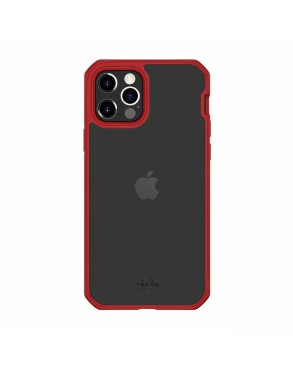 Feronia Bio - Pure DropSafe Biodegradable Case Red/Transparent for iPhone 12 Pro Max - This Case Plants 1 Tree