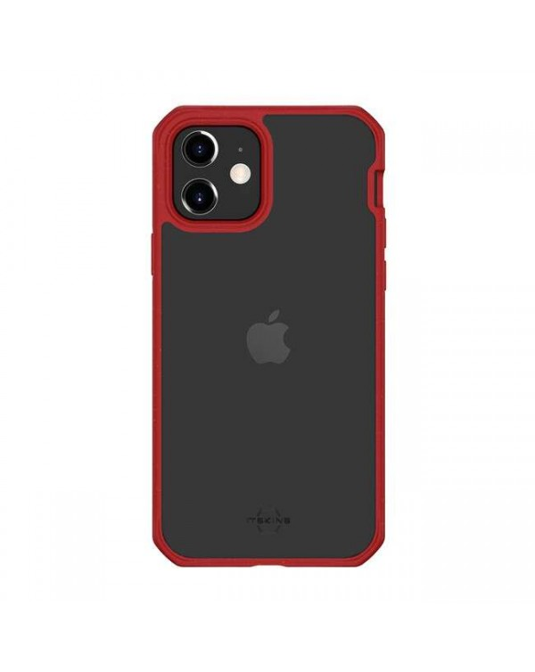 Feronia Bio - Pure DropSafe Biodegradable Case Red/Transparent for iPhone 12 mini - This Case Plants 1 Tree