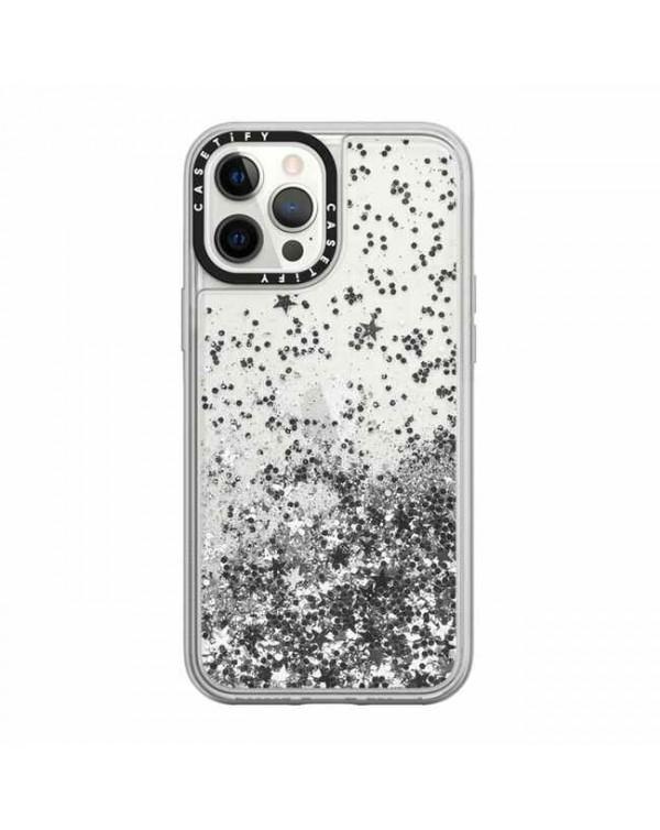 Casetify - Glitter Case Monochrome Silver for iPhone 12 Pro Max