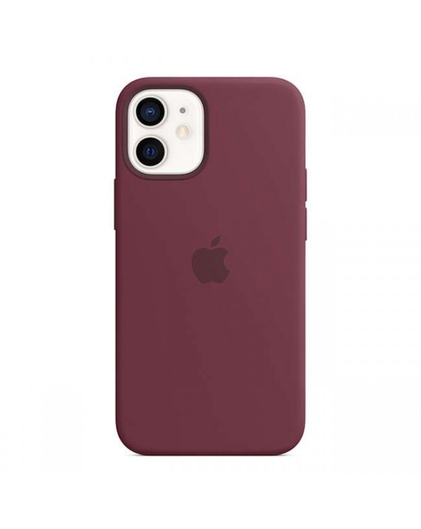 Apple - Silicone Case with MagSafe Plum for iPhone 12 mini