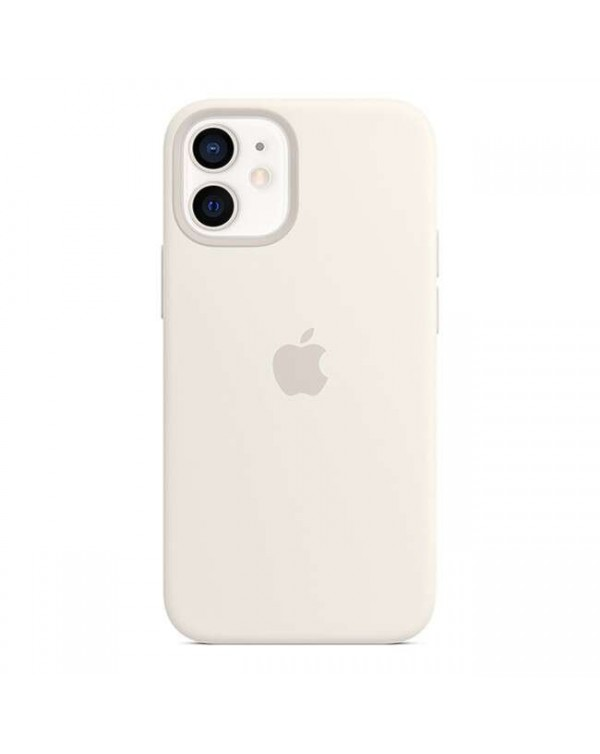 Apple - Silicone Case with MagSafe White for iPhone 12 mini