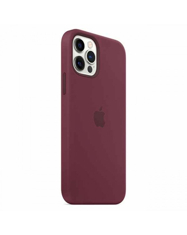 Apple - Silicone Case with MagSafe Plum for iPhone 12 Pro Max