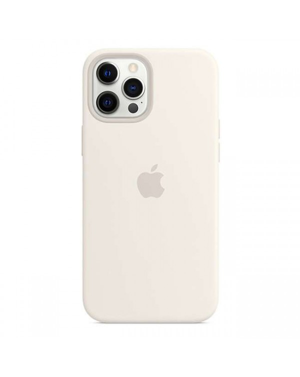 Apple - Silicone Case with MagSafe White for iPhone 12 Pro Max