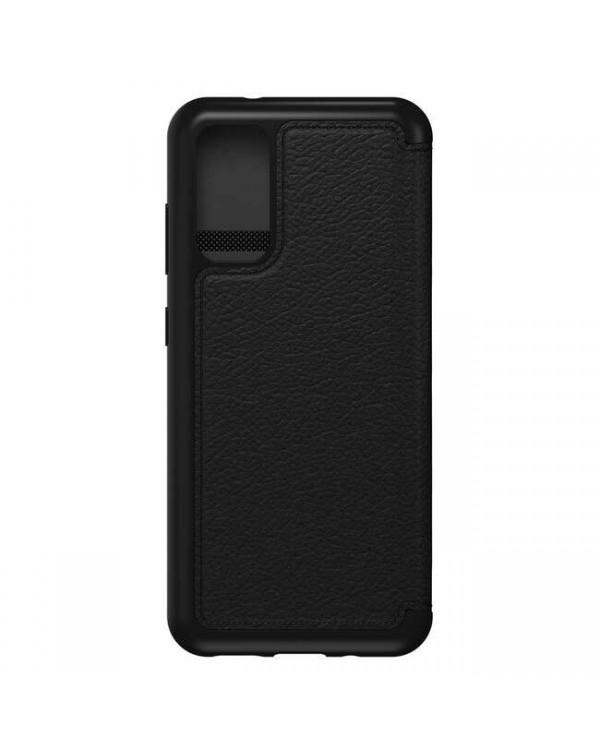 Otterbox - Strada Folio Leather Case Shadow (Black/Pewter) for Samsung Galaxy S20+
