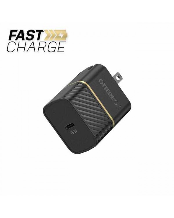Otterbox - Premium Fast Charge Power Delivery Wall Charger USB-C 18W Black