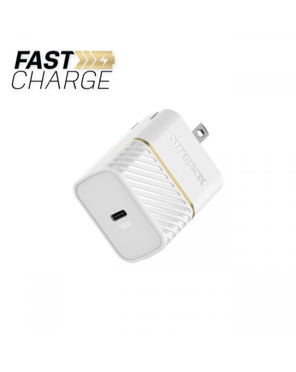 Otterbox - Premium Fast Charge Power Delivery Wall Charger USB-C 18W White