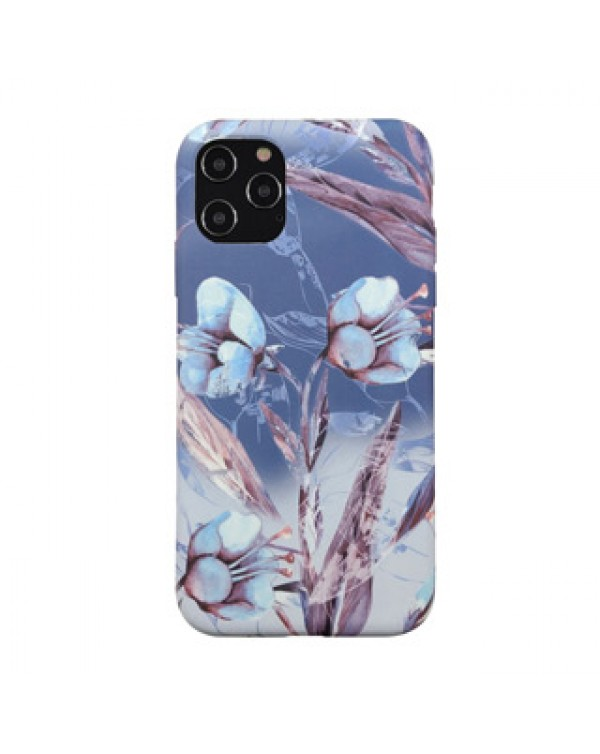 iPhone 12/12 Pro Uunique Blue (Blue Iris) Nutrisiti Eco Printed Back Case