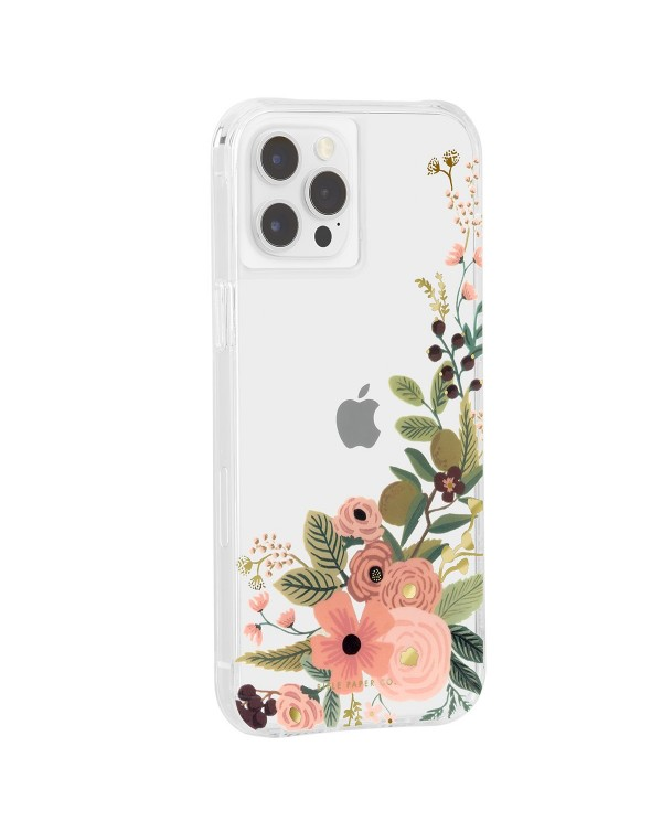 CASE-MATE RIFLE PAPER CASE FOR IPHONE 12 PRO MAX WITH MICROPEL, ROSE