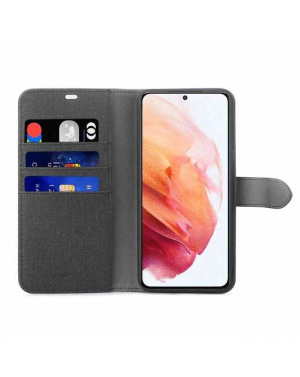 Blu Element - 2 in 1 Folio Case Black/Black for Samsung Galaxy S21 Plus
