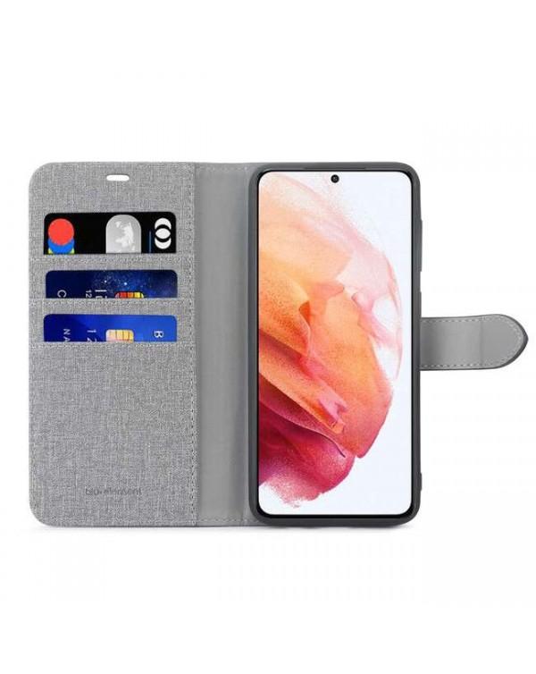 Blu Element - 2 in 1 Folio Case Gray/Black for Samsung Galaxy S21