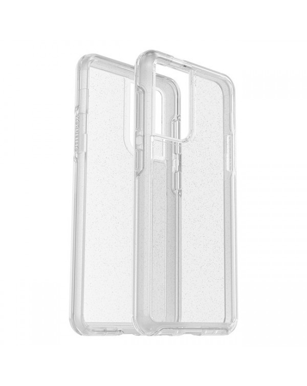 Otterbox - Symmetry Clear Protective Case Stardust (Silver Flake/Clear) for Samsung Galaxy S21