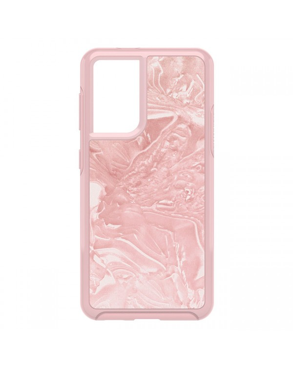 Otterbox - Symmetry Clear Protective Case Pink Interference/Shell-Shocked for Samsung Galaxy S21