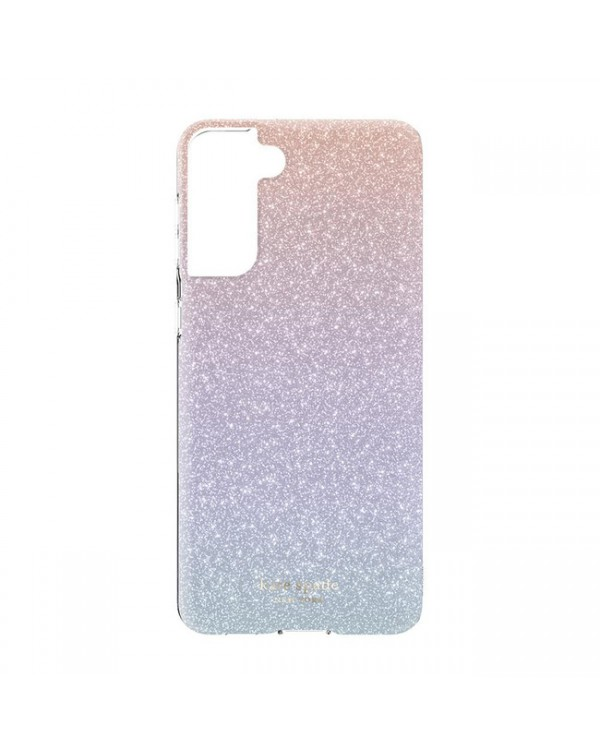 Kate Spade - Protective Hardshell Case Ombre Pink Glitter for Samsung Galaxy S21 Plus
