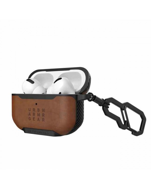 UAG - Metropolis Rugged Leather Case Brown for AirPods Pro