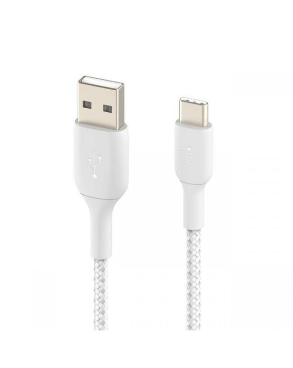 Charge cable Sync cable BOOST CHARGE™ Braided USB-C to USB-A Cable 6ft White Belkin