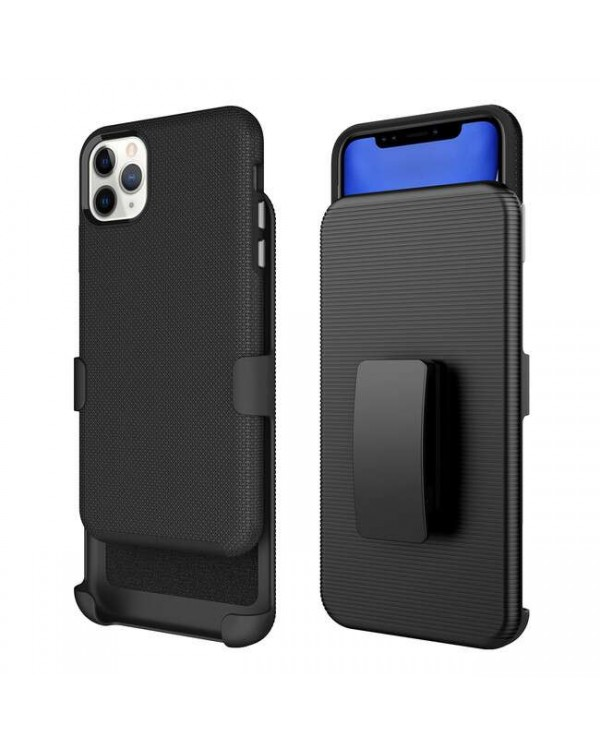 Blu Element - Armour 2X Case and Holster Combo Black for iPhone 12 Pro Max BULK