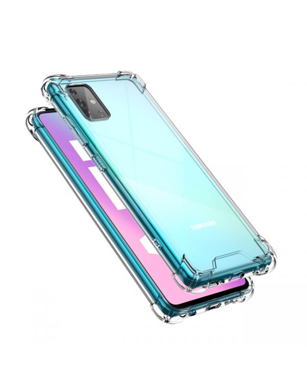 Blu Element - Dropzone Rugged Case Clear for Samsung Galaxy A71